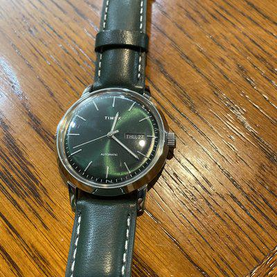 FS: Timex Marlin automatic day-date, 40mm, rare green dial/strap