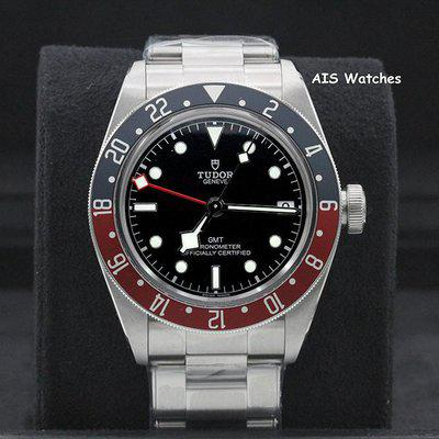 FSOT: BNIB Tudor 79830RB Black Bay GMT Pepsi Stainless Steel Bracelet Box & Papers