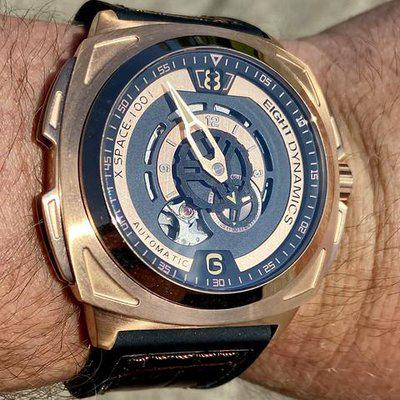 Eight Dynamics X SPACE-1001 Rose Gold Automatic Watch Similar to Seven Friday $498