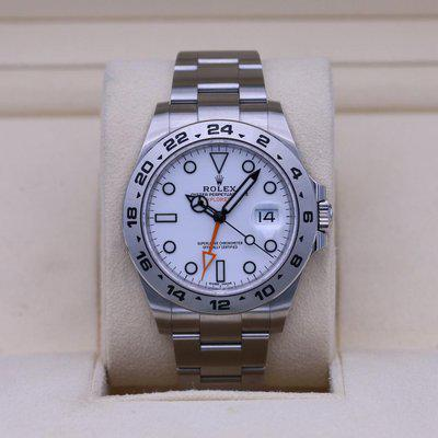 FSOT: Rolex Explorer II 216570 White Dial 42mm Stainless – 2021 Box & Papers