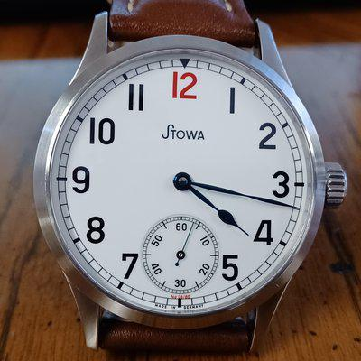 FS: Stowa Marine Original Limited Edition 1 (MOLE I) with red 12, white enamel dial - #06 of only 80 pieces made - 41mm