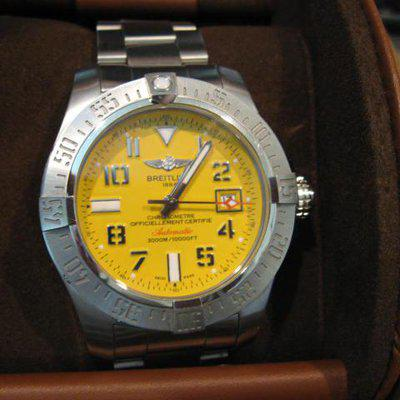 FS: Breitling Yellow Dial Avenger 2 SEA Wolf A17331
