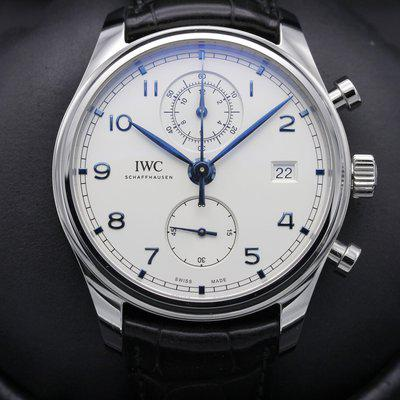 FSOT: IWC Portugieser - Chronograph - SILVER Dial - IW3903 - MARCH 2020 - MINT Set