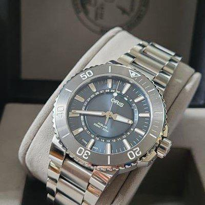 FSOT: Oris Aquis Source of Life - Limited Edition Watch - 43.5mm, Stainless Steel Bracelet, Complete Set - $1,675
