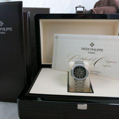 Fs: NEW PATEK PHILIPPE LADIES NAUTILUS 7118/1A TIFFANY STAMPED DIAL COMPLETE SET