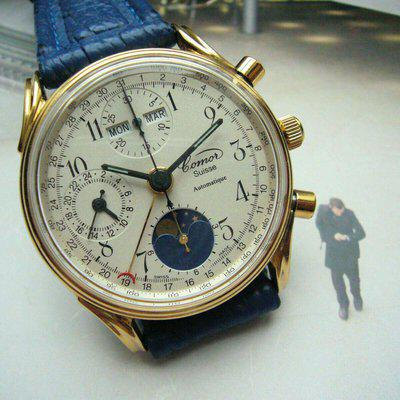 FS COMOR chronograph with complete calendar & moonphase with papers $2,350