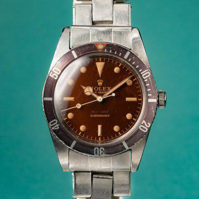 FS: 1958 Rolex Submariner 6536-1 with Tropical Dial