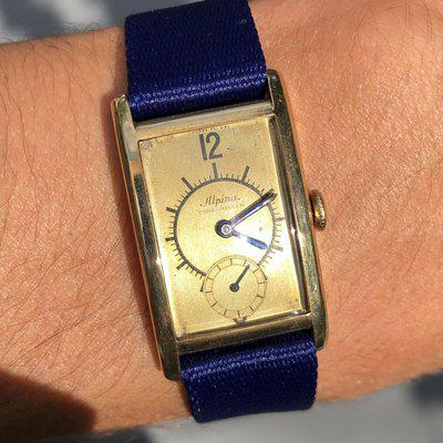 [WTS] Vintage 14k Alpina Sector Dial
