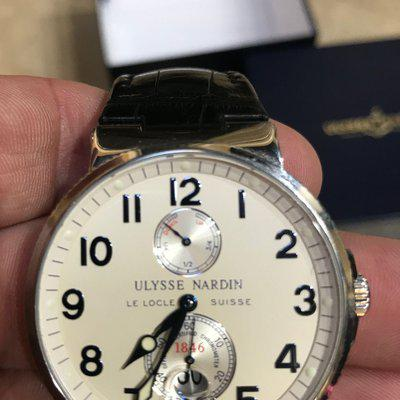 FS: Ulysse Nardin Maxi Marine Stainless Steel Watch 263-66 41MM leather Band
