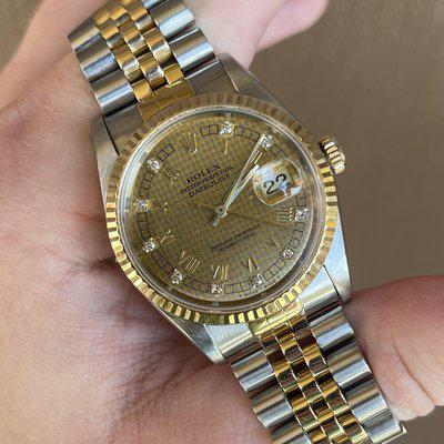 [WTS] 1989 Rolex DateJust 16233 Houndstooth Dial with Factory Set Diamonds