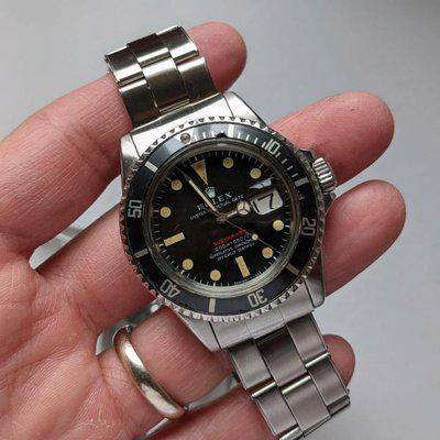 [Vends] Rolex Submariner 1680 red meter mkII first 1970