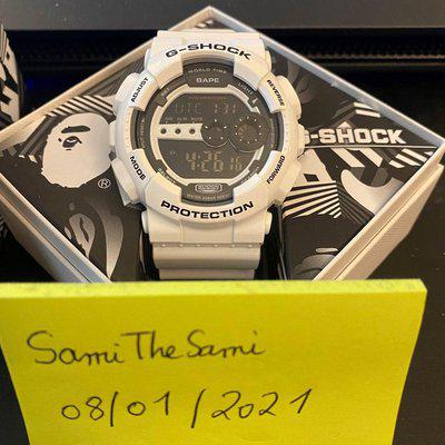 [WTS] Casio G-SHOCK x BAPE GD-100 White (WORLD GONE MAD) Limited Edition