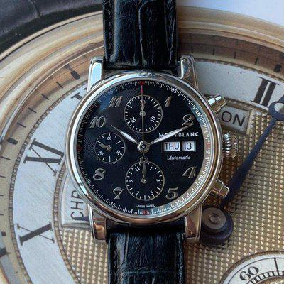 FS:Montblanc Star Automatic Chronograph Black Guilloche Dial Men's Watch 106467
