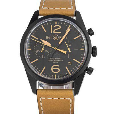 Bell & Ross Heritage BR126 Vintage Black Dial PVD Box Papers