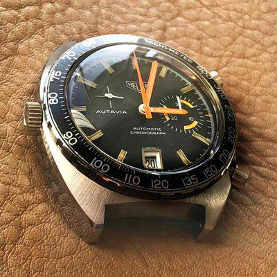 HEUER Ref 1563 Black Dial Tachy ca1971, NOT 15630 MIX! *PIC*