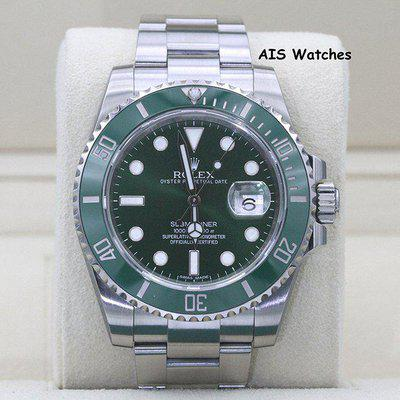 FSOT - Rolex Submariner 116610LV HULK Green Dial and Ceramic Bezel Box & Papers