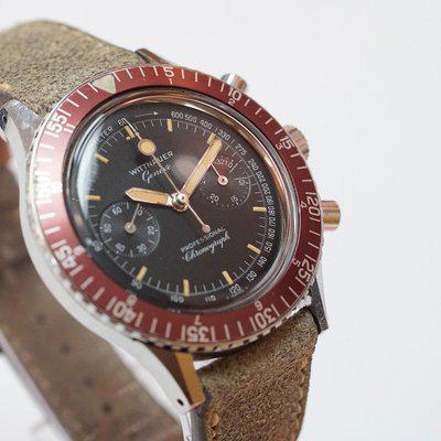 Wittnauer 7004A Professional Chronograph Red Bezel - Full