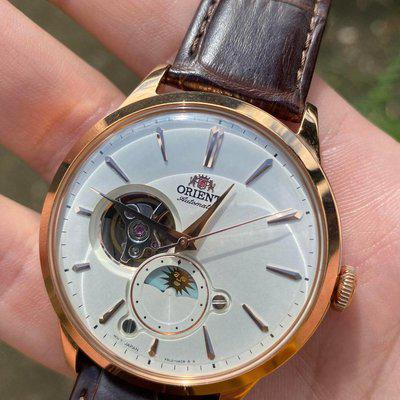 [WTS] Orient Bambino Open Heart Sun and Moon RA-AS0102S Rose Gold Color With Orient Leather Strap $425 OBO Free Shipping