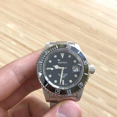 [WTS] Squale Y1545 Atmos 20 Black w Date, Excellent, w 2 NATOs and 2 Steel Bracelets—$415