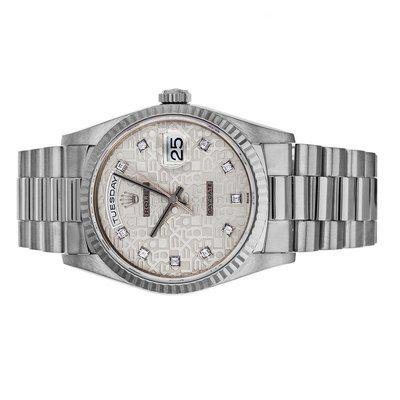 FS- Rolex Day-Date 18239 W Box Punched Papers Jubilee Diamond Dial