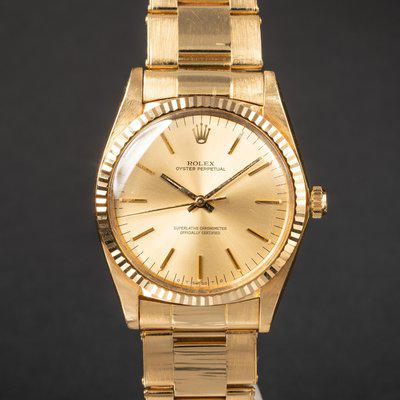 FS: 1978 Rolex 18k YG Oyster Perpetual 1013 Champagne Sigma Dial