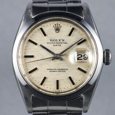 FS: 1971 Rolex Date Ref: 1500 with Cream Mosaic Dial