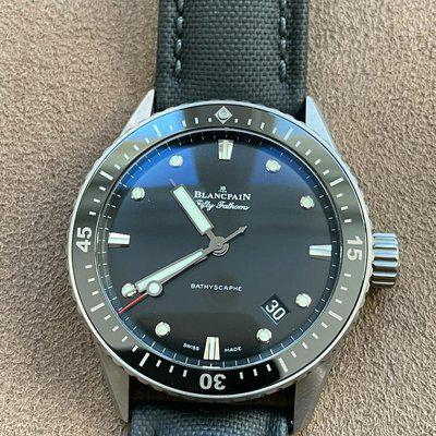 FS: Blancpain Fifty Fathoms Titanium Bathyscaphe - Box and Papers