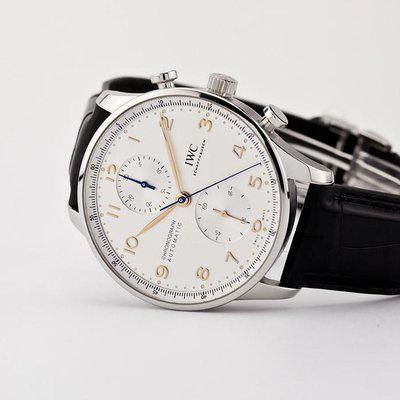 FSOT - IWC Portuguese Chronograph - NEW In-House Movement - IW371604 ( new / 2021 )