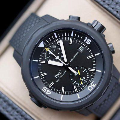 FS:IWC Aquatimer Chronograph Edition Galapagos Islands Vulcanized Black Rubber 45mm I