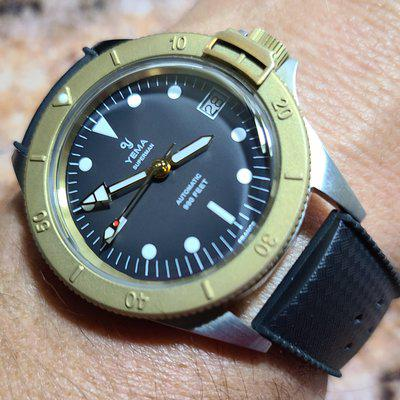 For Sale Only, BNIB Yema 39mm Superman Bronze Gray dial!