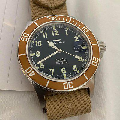 [WTS] Glycine Combat Sub GL0090 Root Beer bezel $210 Shipping and fees included!