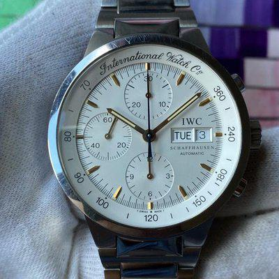 FS:IWC GST Chronograph Steel Automatic White Dial 3707