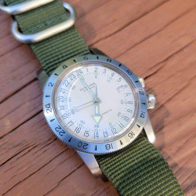 FS: Glycine Airman No. 1 Purist 36mm - white dial, original box and papers (ref. GL0161)