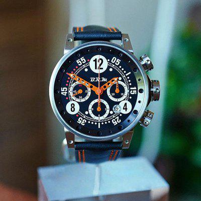 FS BRM V12 AUTOMATIC DATE CHRONOGRAPH BLACK & ORANGE DIAL 44MM