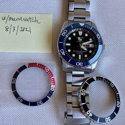 [WTS] Upgraded! Seiko SNZF17 w/ NH36 Movement, Extra bezels
