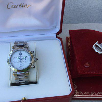 FS: Cartier Pasha Stainless Steel Automatic Chrono W31030H3