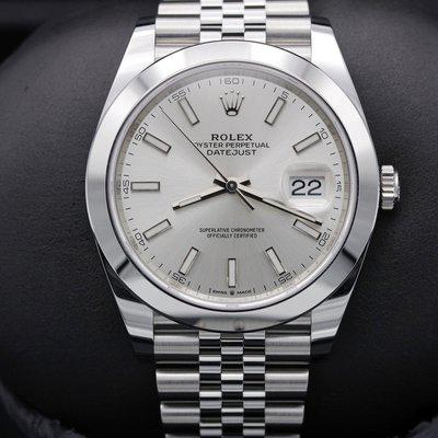 FSOT: Rolex Datejust 41 - 126300 - Silver Index - Stainless - Jubilee - 41mm - New