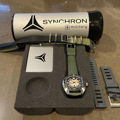 SOLD: Synchron Military Dive Watch - Doxa Army Homage - Stainless Steel