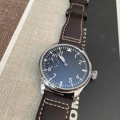 [WTS] Parnis: Flieger, small seconds. Manual Wind with exhibition caseback. 44mm