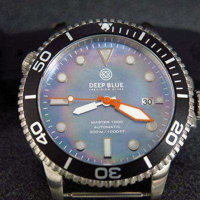 TRADED - Deep Blue 1000m Diver project, 45mm with blue Mother or Pearl dial