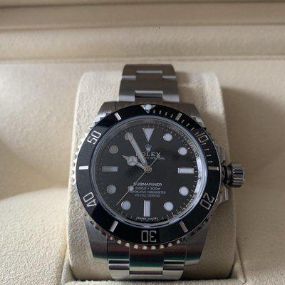 ROLEX 114060 SUBMARINER NO DATE Box and Papers 2018