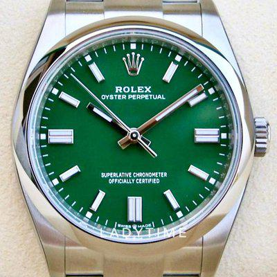 FS: New Rolex 126000 Oyster Perpetual 36 mm Green Stick May 2021 Full Set