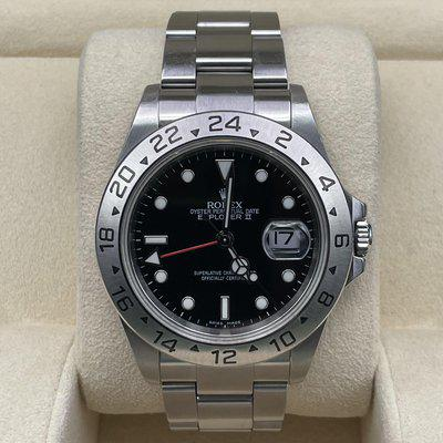 Sold: Rolex Explorer II 16570 - Just Serviced with Warranty - F Serial, No Holes, Solid end links
