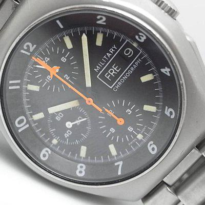 SOLD - Tutima German Military Flieger Aviator day/date automatic Chronograph.