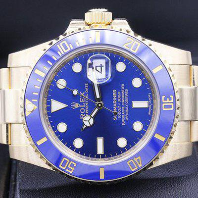 FSOT: Rolex Submariner Date 41mm 116618LB Yellow Gold Blue Dial