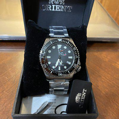 FS: Orient Neptune Triton with modded Lumed Insert and Strapcode Bracelet