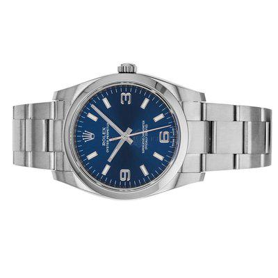 FS- Rolex 114200 Oyster Perpetual 34 Blue Dial Box Papers