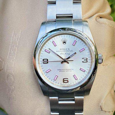 FS: Rolex Air-King Oyster Perpetual 114200 Silver Arabic Pink Index