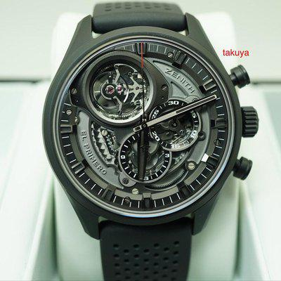 FSOT:Zenith EL PRIMERO TOURBILLON SKELETON CHRONOGRAPH CERAMIC WARRANTY FULL SET