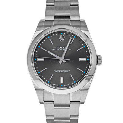 Rolex 114300 Oyster Perpetual Box Papers Dark Rhodium Dial